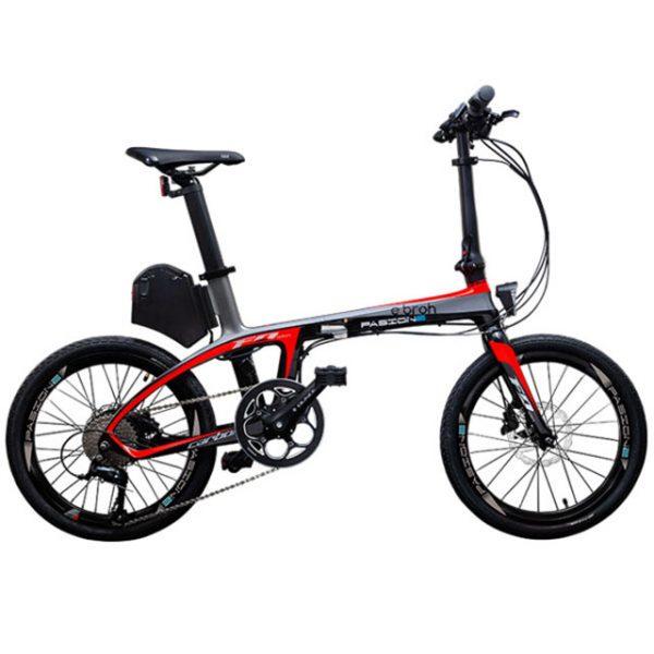 Bicicleta electrica Pasione-roja-remolques-cañero